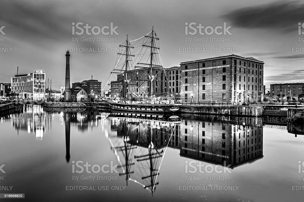 Tall Ship Albert Dock Liverpool stock photo