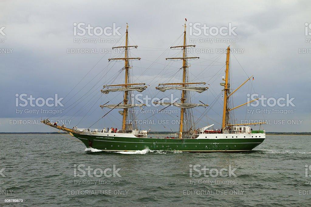 Tall Ship 'Alexander v. Humboldt II' stock photo