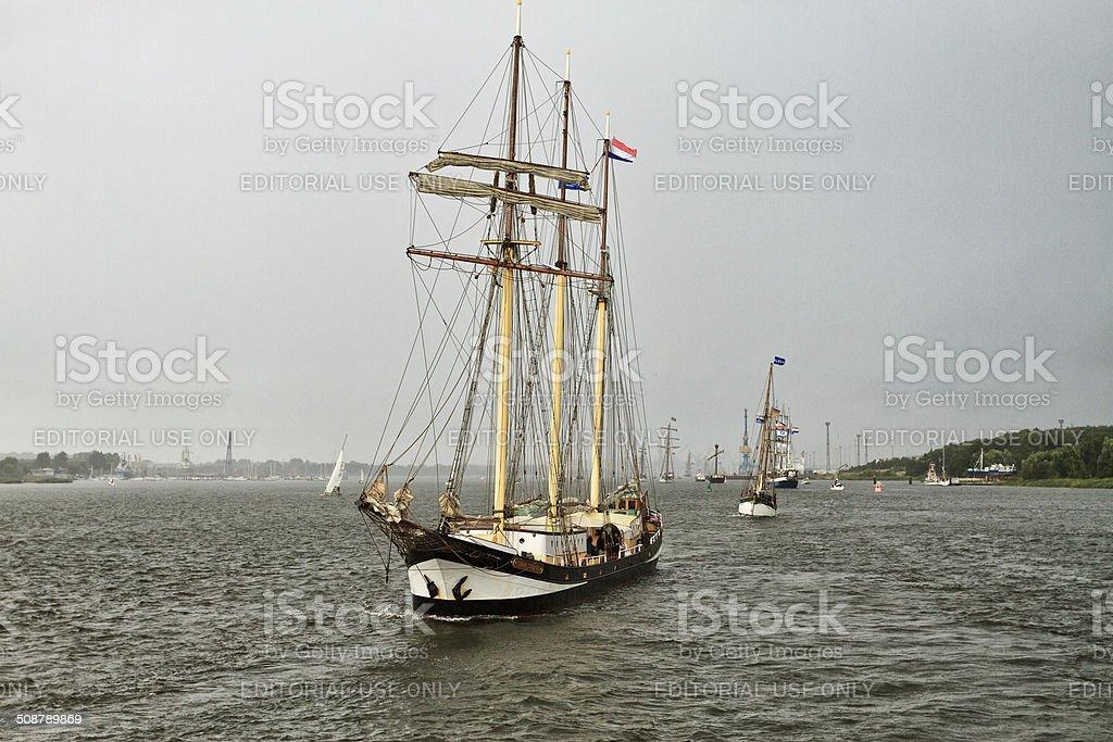 Tall Ship at Hanse Sail 2013 stock photo