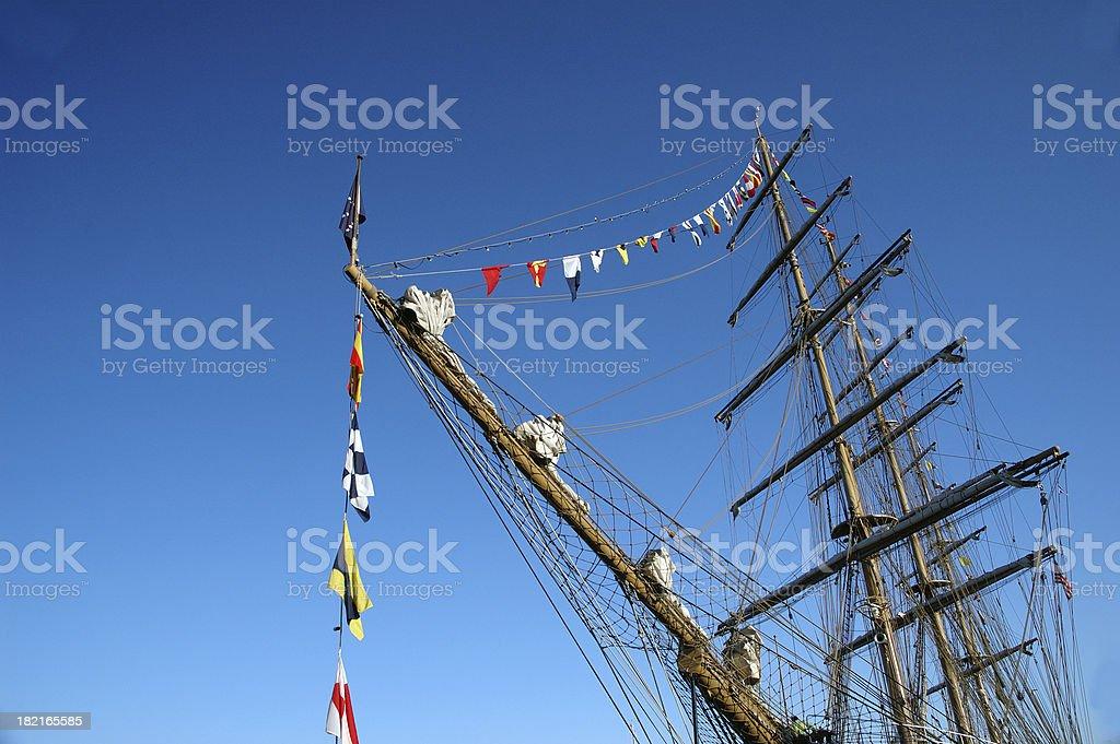 Tall Ship at Port stock photo