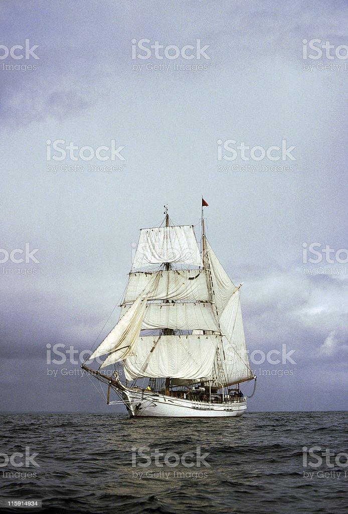 Tall Ship at sea stock photo