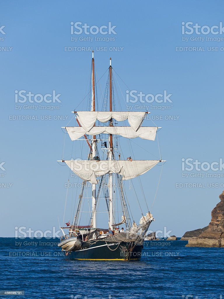 Tall Ship at Whitsunday Sialnds stock photo