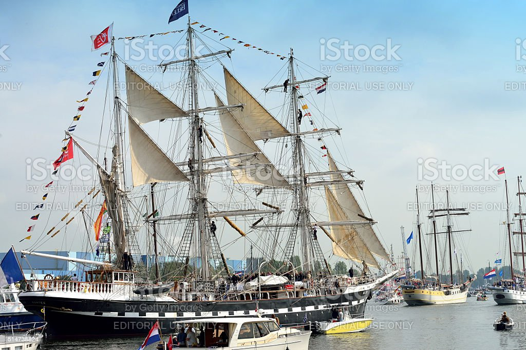 Tall ship Belem from France stock photo