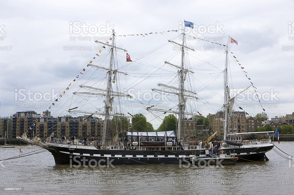 Tall ship Belem moored for Thames Diamond Jubilee River Pageant royalty-free stock photo