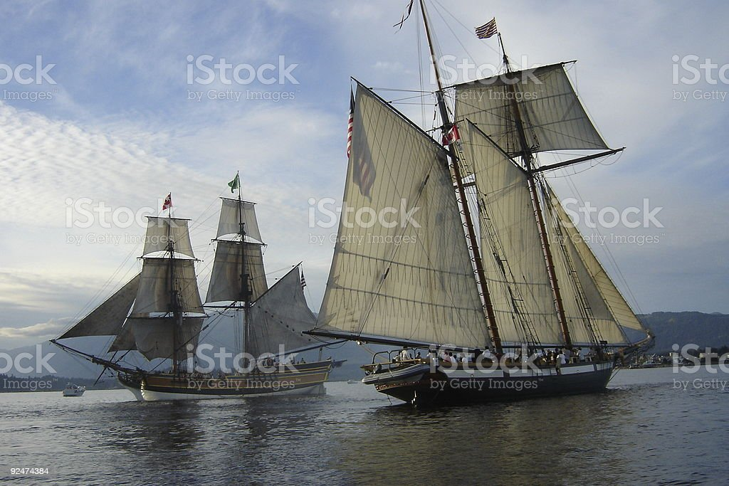 Tall Ship Confrontation II royalty-free stock photo