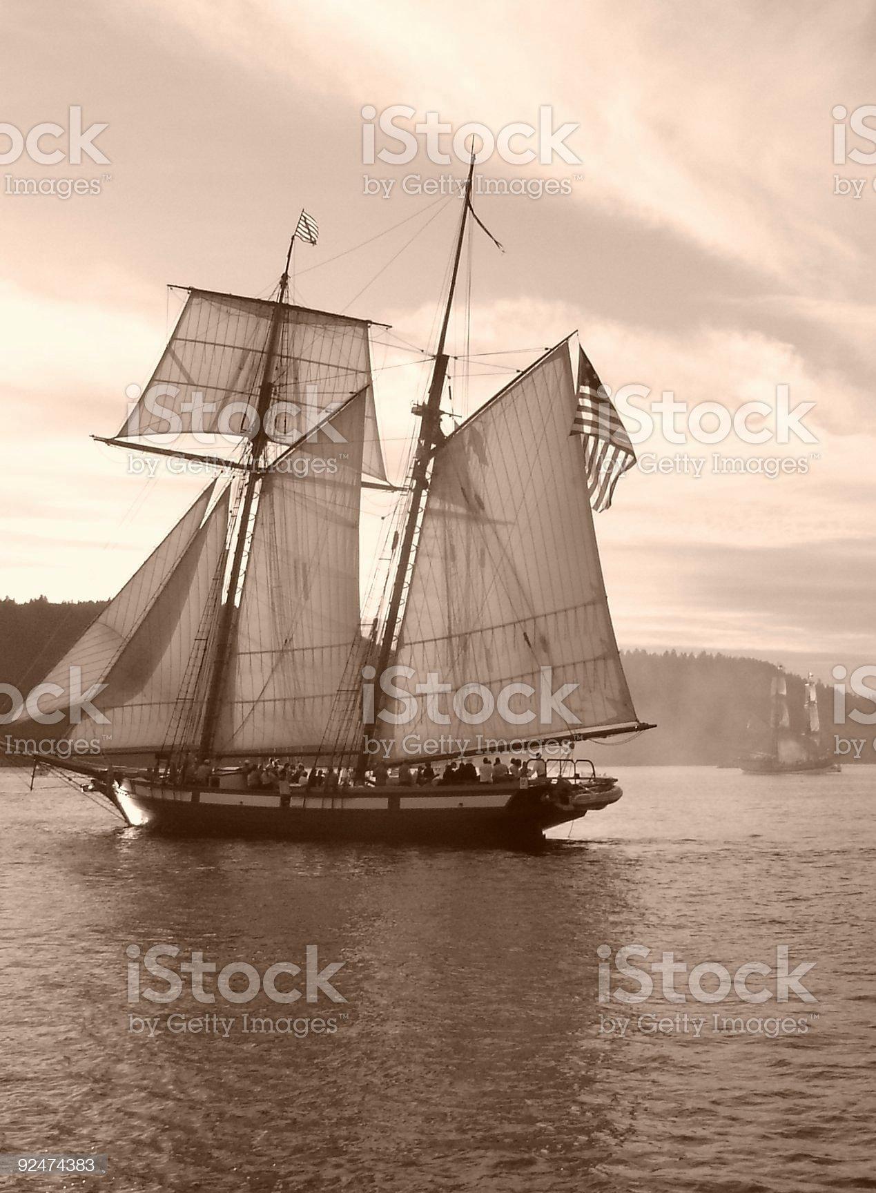 Tall Ship Confrontation royalty-free stock photo