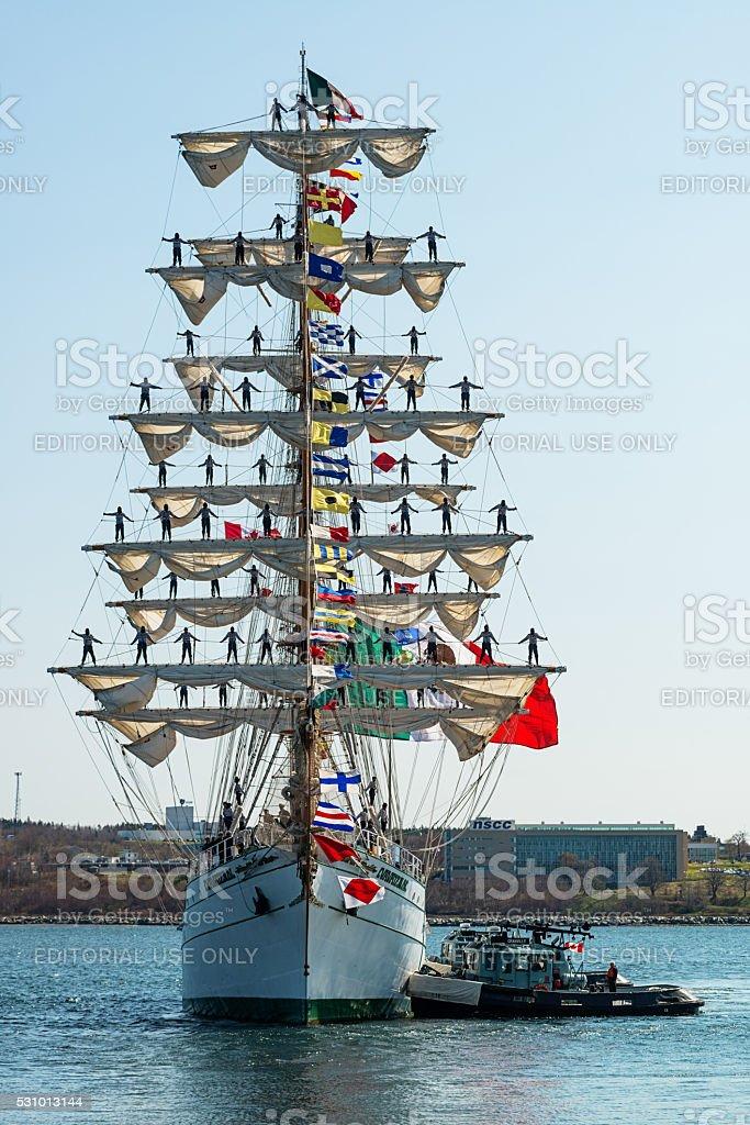 Tall Ship Cuauhtémoc stock photo
