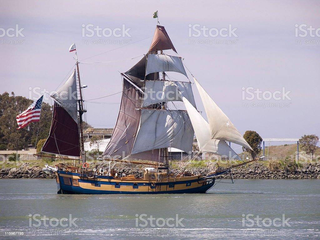 Tall Ship - Eureka, CA royalty-free stock photo