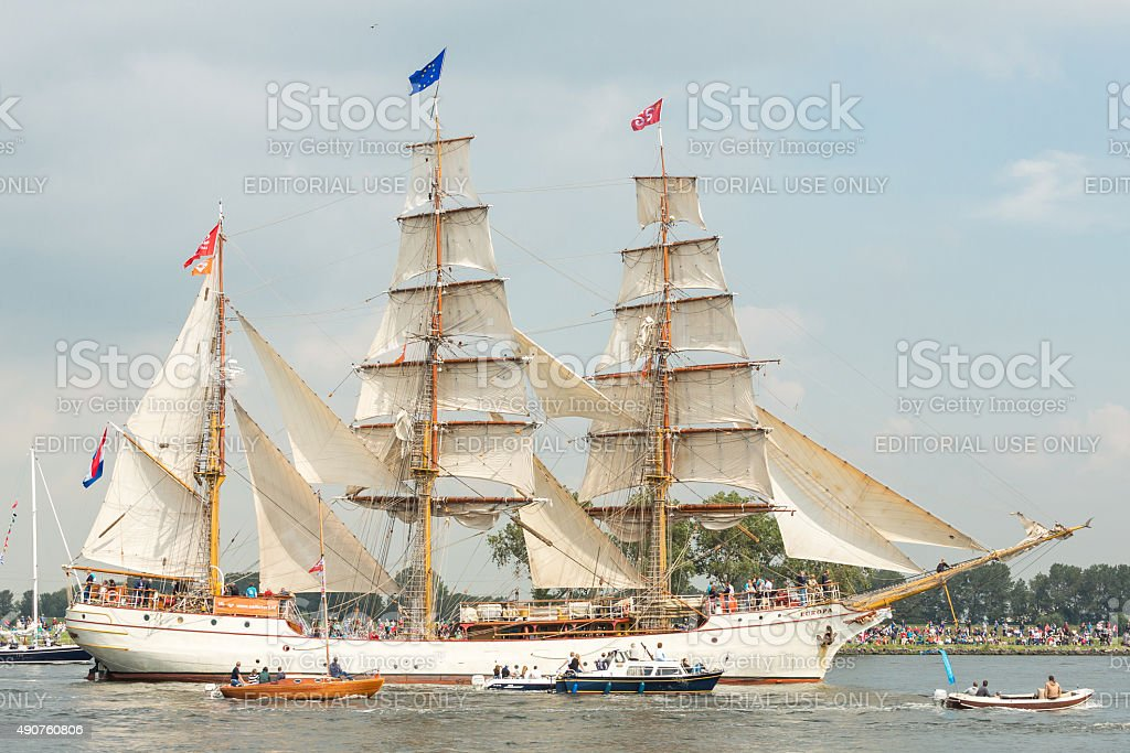 Tall ship Europa - Sail Amsterdam 2015 stock photo