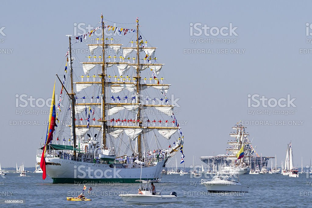 Tall Ship Gloria stock photo
