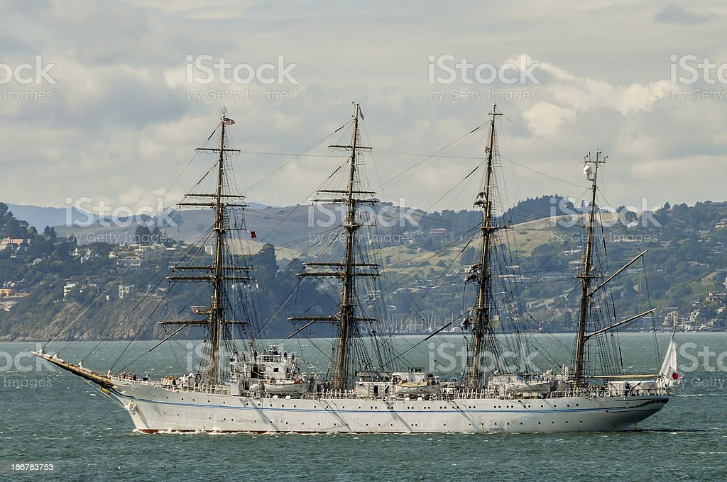 Tall Ship in a Bay royalty-free stock photo