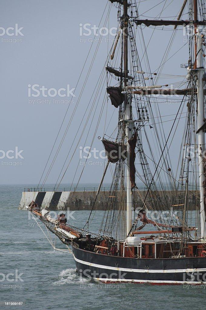 Tall ship, Jersey. royalty-free stock photo