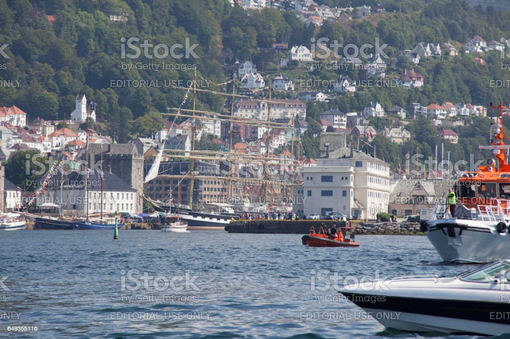 Tall Ship Races Bergen, Norway - July 24, 2014 stock photo