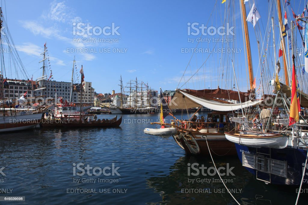 Tall Ship Races Bergen, Norway - July 26, 2014 stock photo