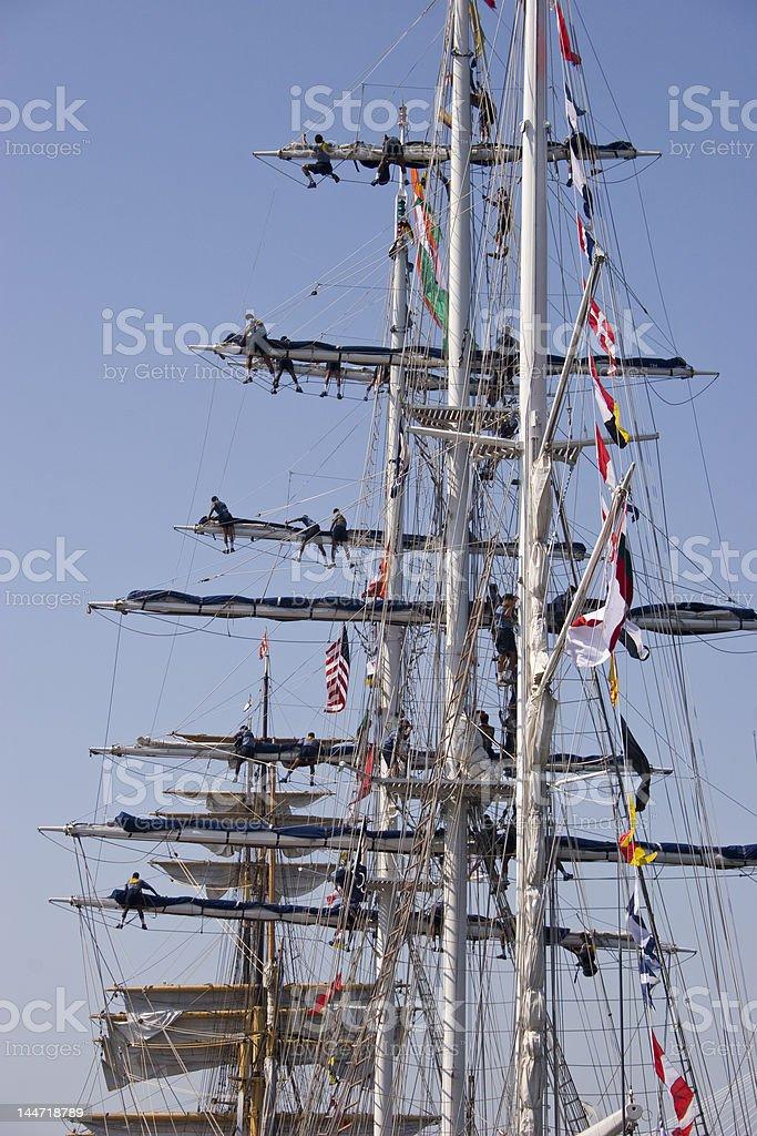 Tall Ship Setting Sail royalty-free stock photo