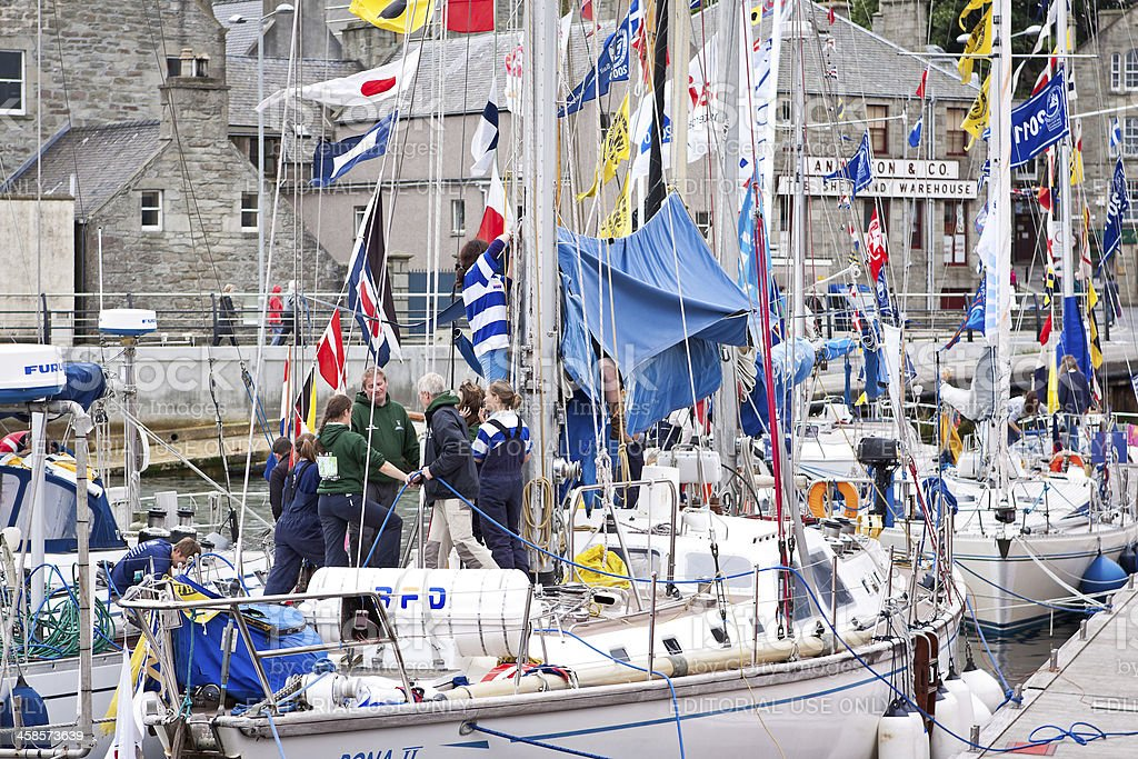 Tall Ships 2011 visit to Lerwick, Shetland royalty-free stock photo