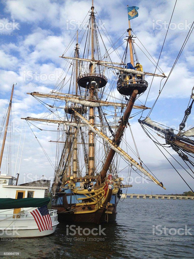 Tall Ships at Chestertown, Maryland stock photo