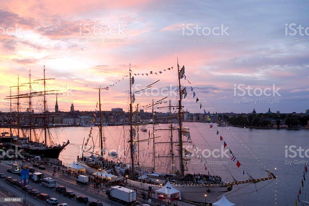 Tall ships, hor royalty-free stock photo
