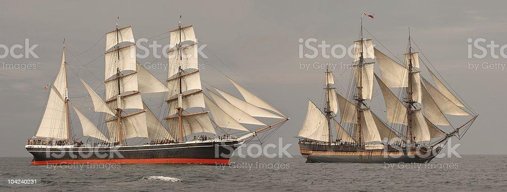 Tall Ships Profile stock photo