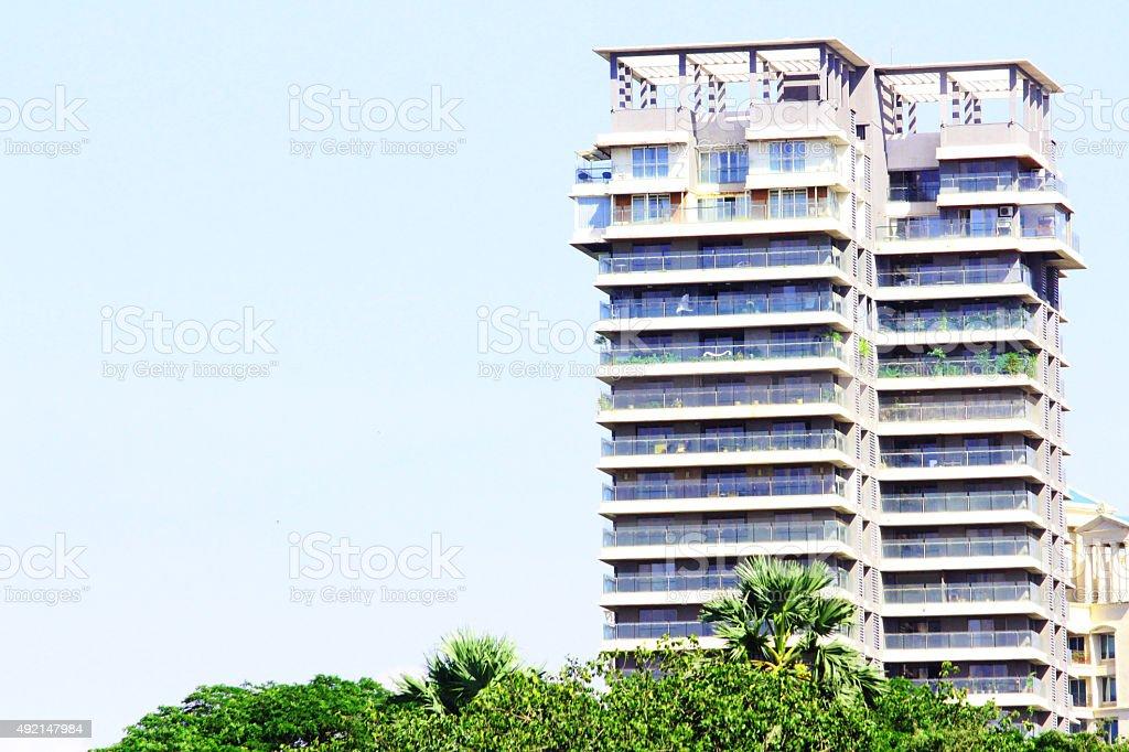 Tall skycrapper building stock photo