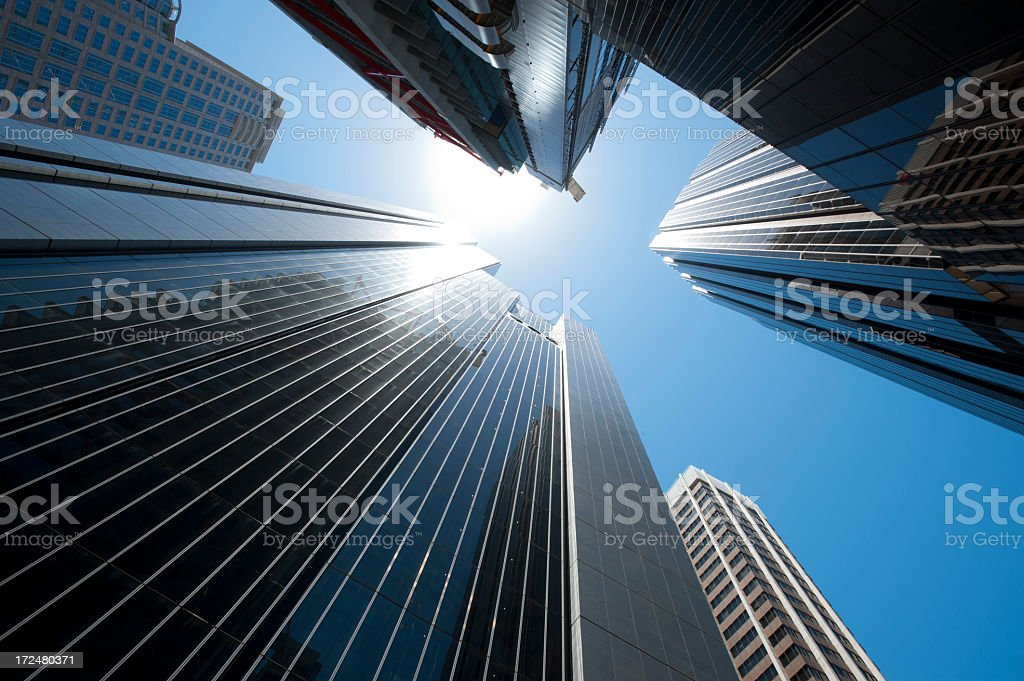 Tall skyscrapers royalty-free stock photo