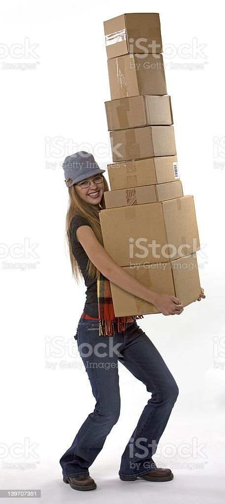 Tall Stack of Boxes royalty-free stock photo