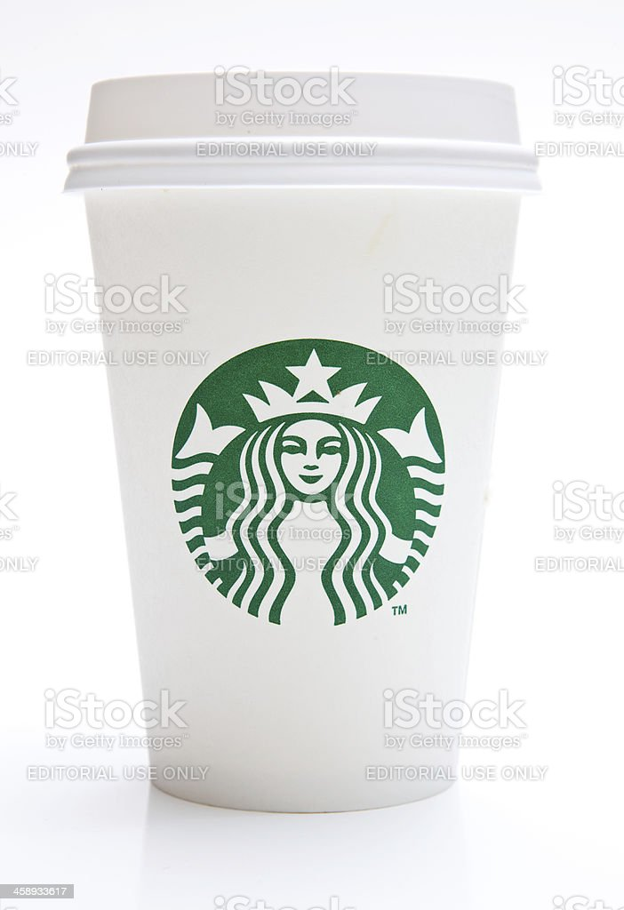 Tall Starbucks Coffee Cup royalty-free stock photo