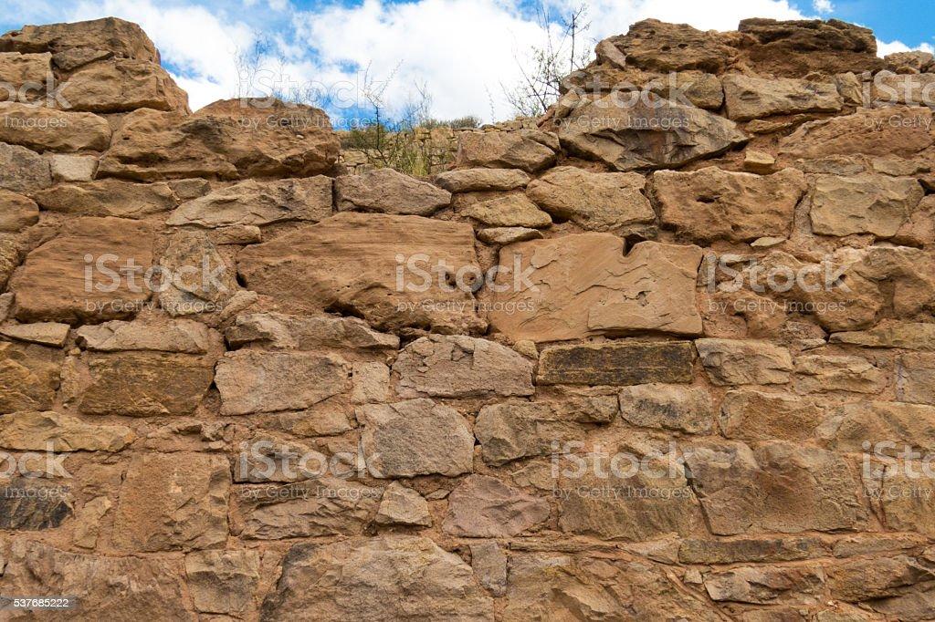 Tall Stone Wall stock photo