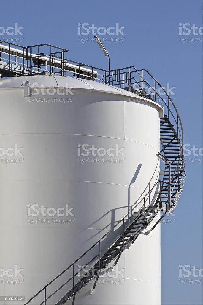 Tall storage tank royalty-free stock photo
