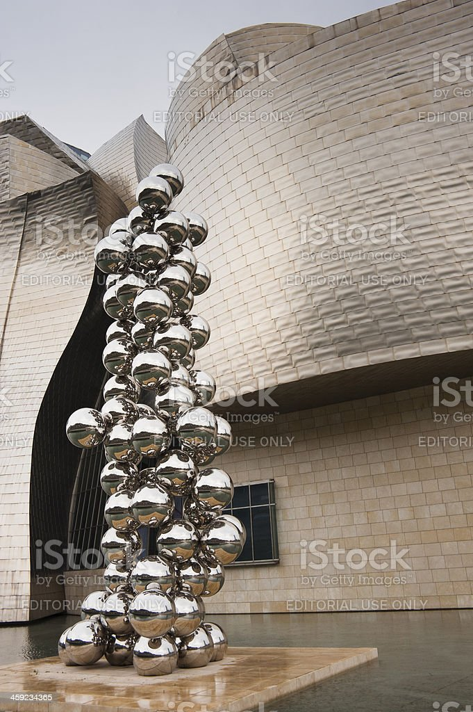 'Tall Tree and the Eye' by Anish Kapoor. stock photo