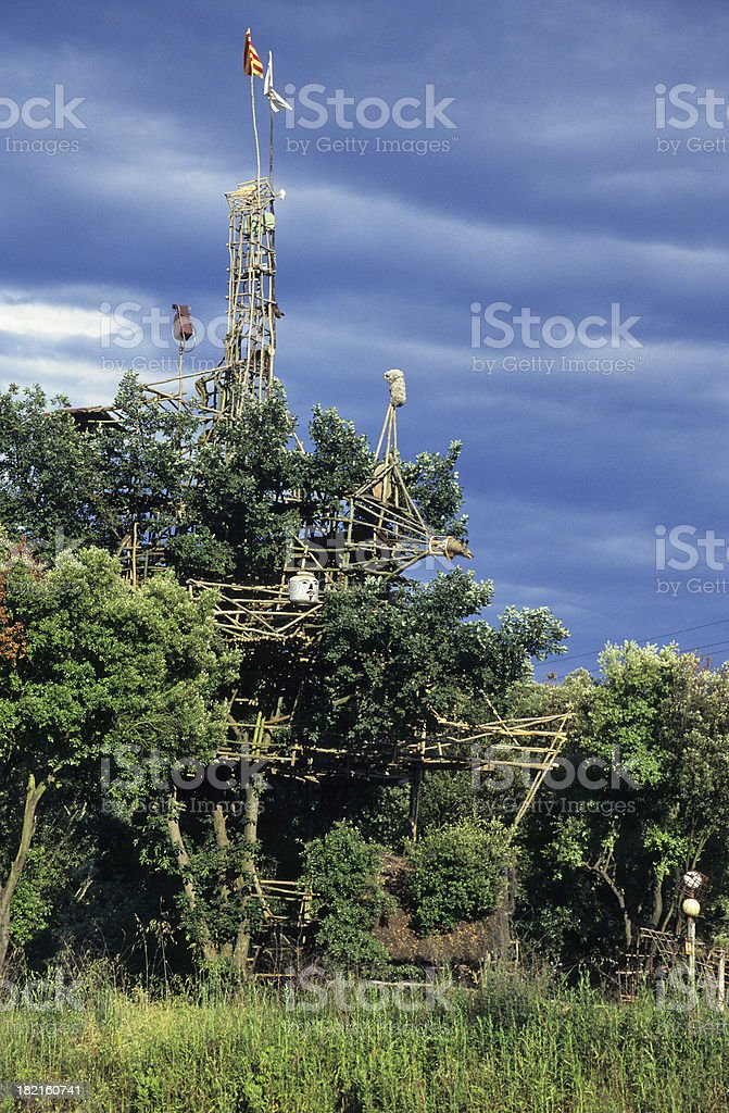 Tall Treehouse stock photo