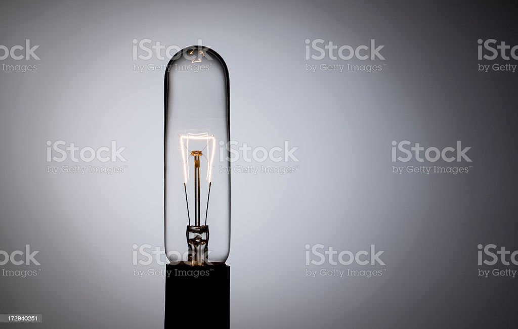 Tall Tube Shaped Light Bulb royalty-free stock photo