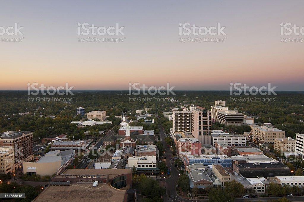 Tallahassee at Dusk - Facing North royalty-free stock photo