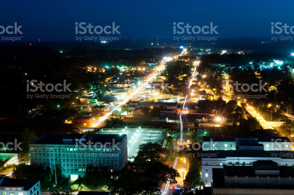 Tallahassee at Night royalty-free stock photo
