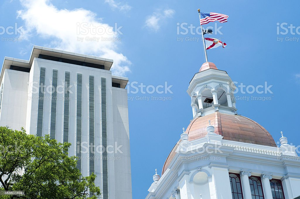 Tallahassee Capitol Buildings in the Afternoon stock photo