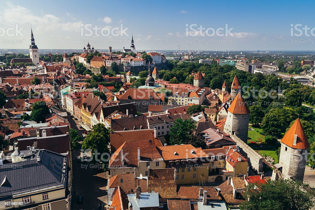 Tallin city view stock photo