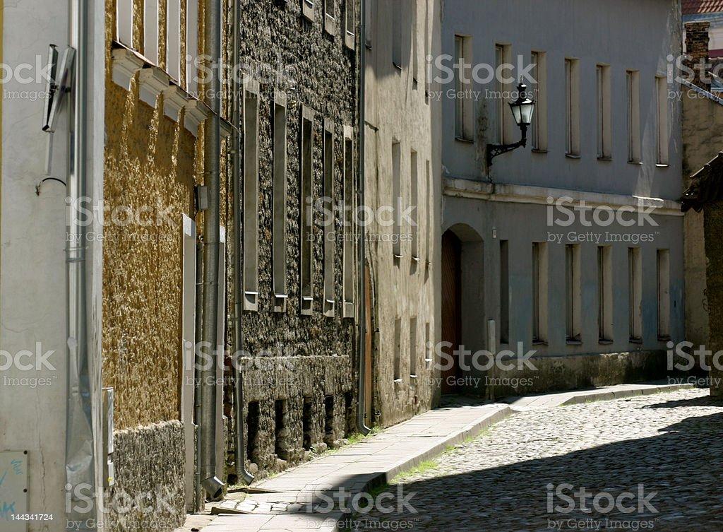 Tallin old street royalty-free stock photo