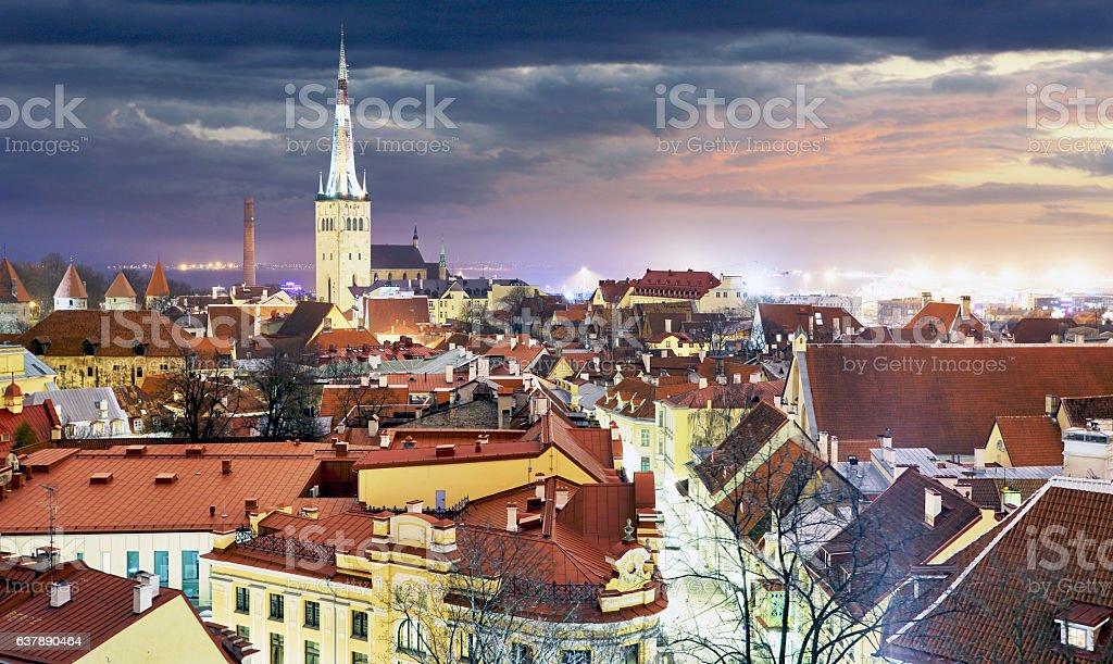Tallin old town, Estonia. stock photo