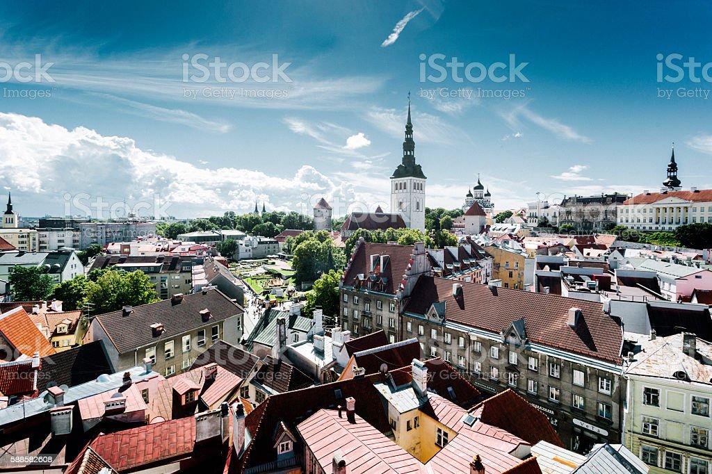 Tallinn Cityscape, Estonia stock photo