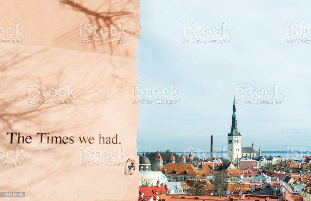 Tallinn downtown, Estonia stock photo