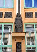 Tallinn, Estonia. Detail of an art nouveau facade.