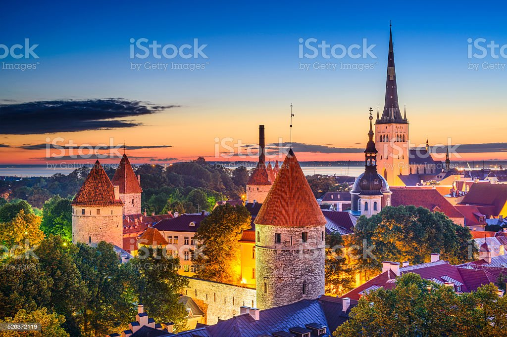 Tallinn Estonia Old City stock photo