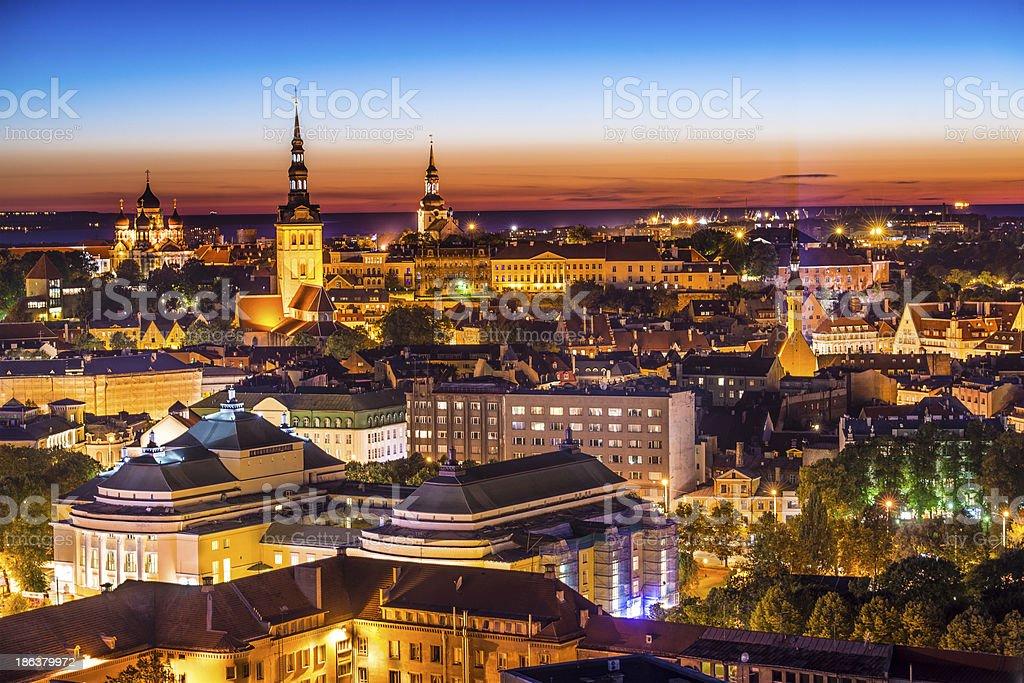 Tallinn Estonia Skyline stock photo