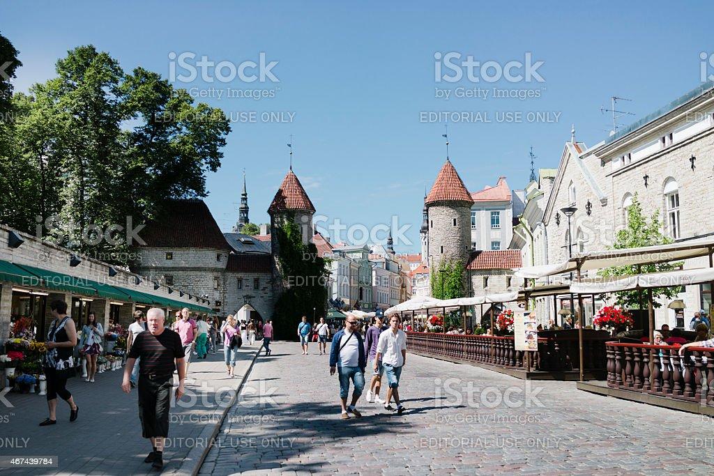 Tallinn - Estonia -Viru Street stock photo
