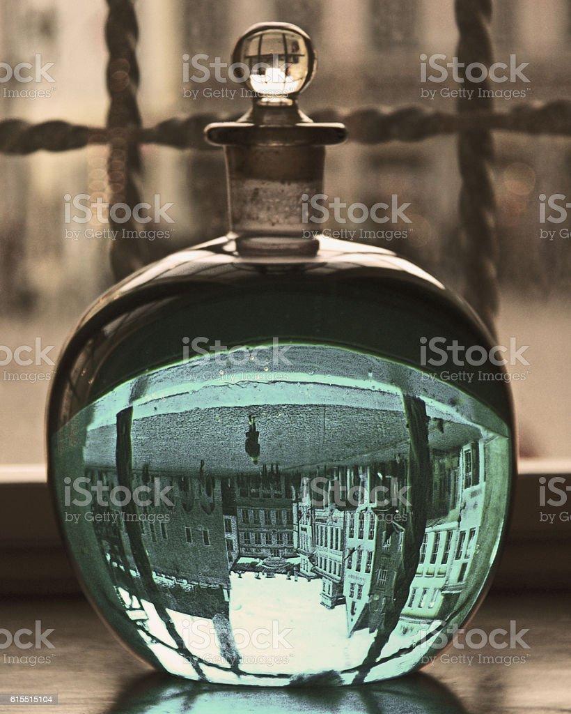 Tallinn in a bottle stock photo