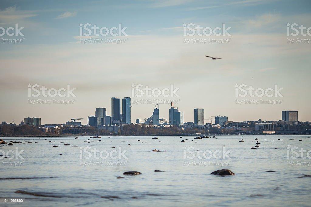 Tallinn modern city center view stock photo