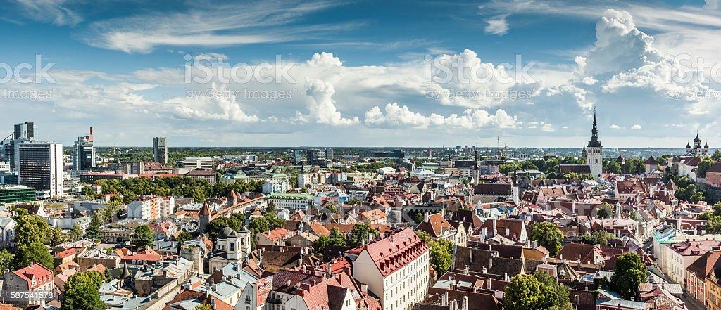 Tallinn Panorama, Estonia stock photo