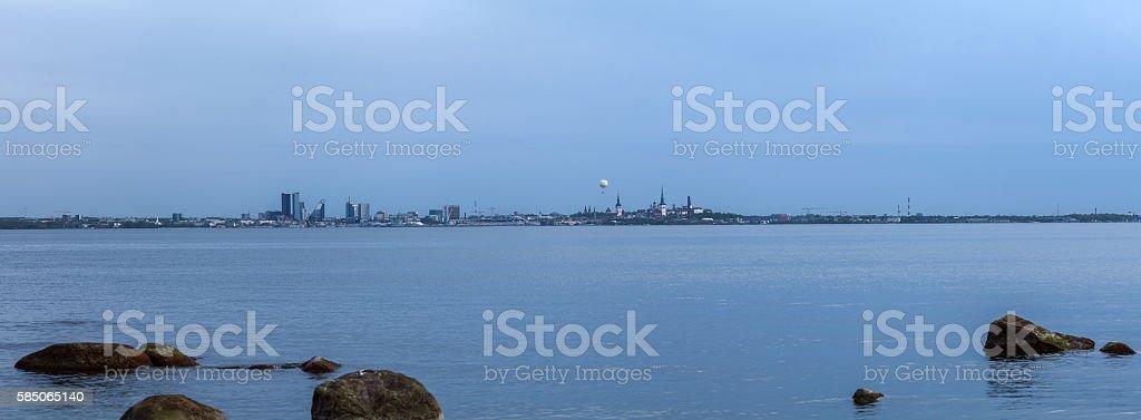 Tallinn panoramic view stock photo