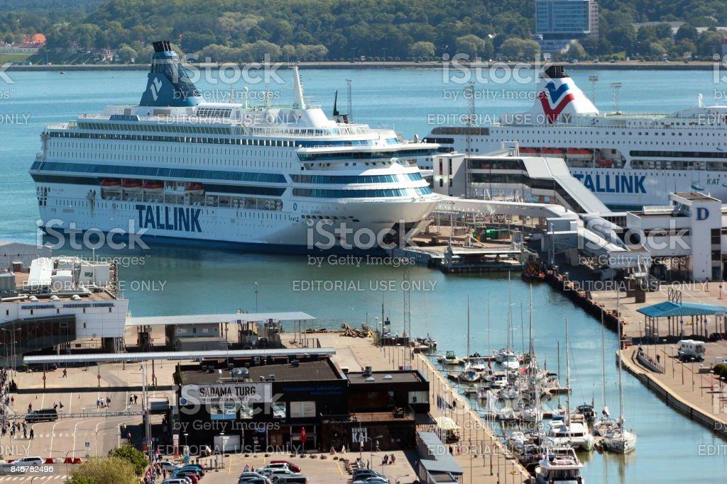 Tallinn passenger harbour, Estonia stock photo