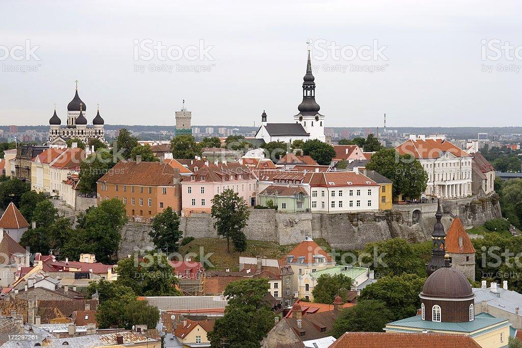 Tallinn skyline royalty-free stock photo